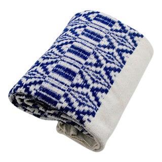 Blue Abanja Jacquard Bed Cover