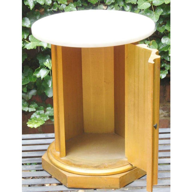 Marble Column Side Table For Sale - Image 5 of 11