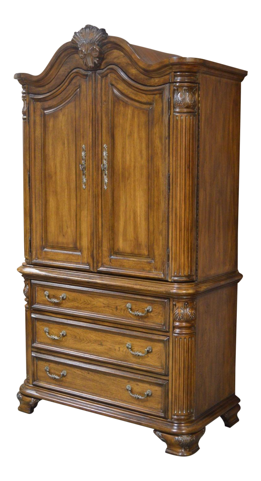 Tuscan Style Carved Armoire