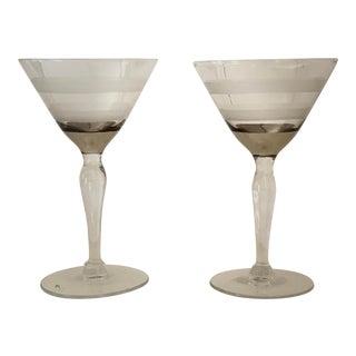 Vintage 1950s Aperitif Cocktail Glasses - a Pair For Sale