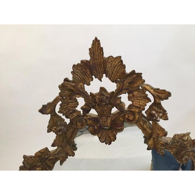 Antique Italian Gothic Gold Leaf Mirror - Image 4 of 11
