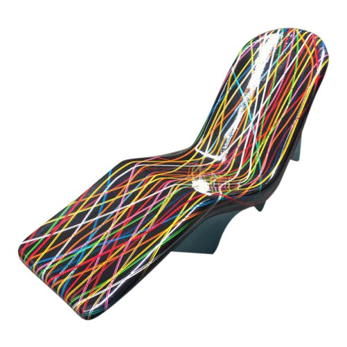 Mid-Century Fibrella Lounger Art Piece - Image 1 of 6