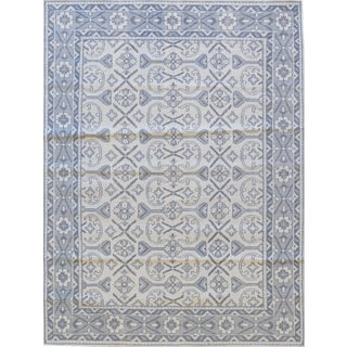 Swedish Mansour Quality Handwoven Wool Rug - 8' X 10' For Sale