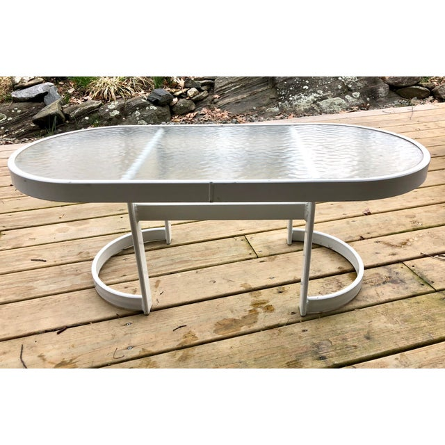 Vintage modern Winston coffee / side table in white powder coat and glass top This is vintage made in USA quality, not...