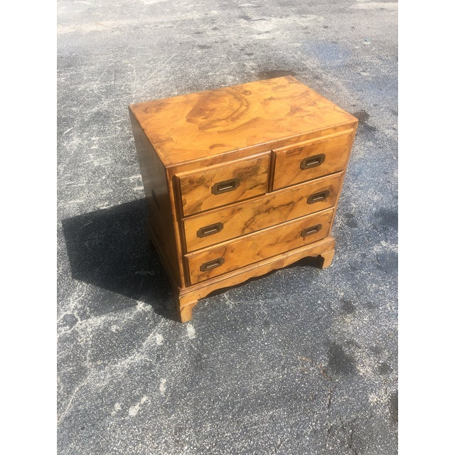Mid 20th Century Italian Olive Burl Wood Chest of Drawers For Sale - Image 5 of 12