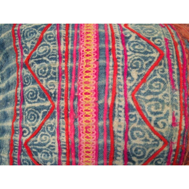 Contemporary Indigo Hmong Batik Pillow For Sale - Image 3 of 3
