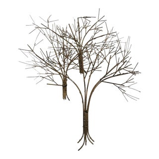 Vintage Metal Tree Wall Art Sculpture For Sale