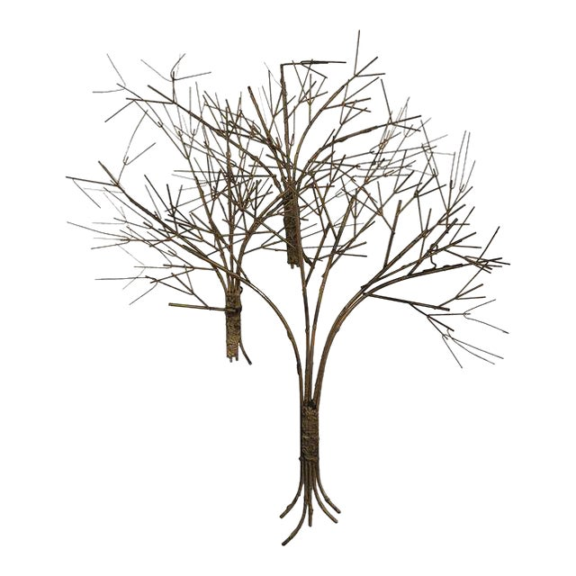 Vintage Metal Tree Wall Art Sculpture For Sale