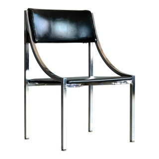 Wolfgang Hoffmann Side Chair in Chrome and Vinyl for Howell Company For Sale
