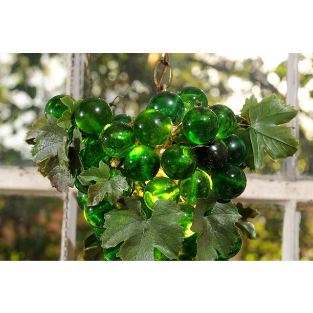 Midcentury Grape Cluster Light of Green Lucite For Sale In Atlanta - Image 6 of 8