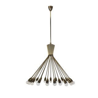 Mid-Century Modernist Spider Sputnik Stilnovo Chandelier For Sale