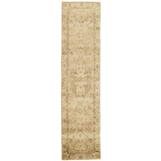 "Traditional Pasargad N Y Original Oushak Design Hand-Knotted Rug - 2'6"" X 10' For Sale"