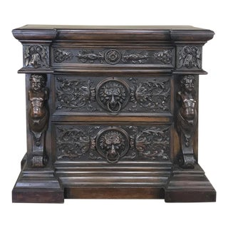 19th Century Italian Renaissance Commode For Sale