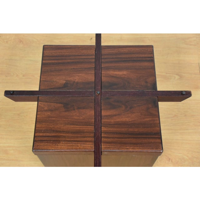 Mid-Century Rosewood & Glass Danish Coffee Table - Image 9 of 10