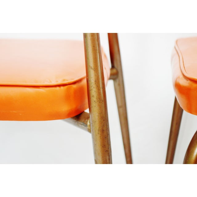 Mid-Century Modern Orange Dining Chairs - Set of 5 - Image 11 of 11