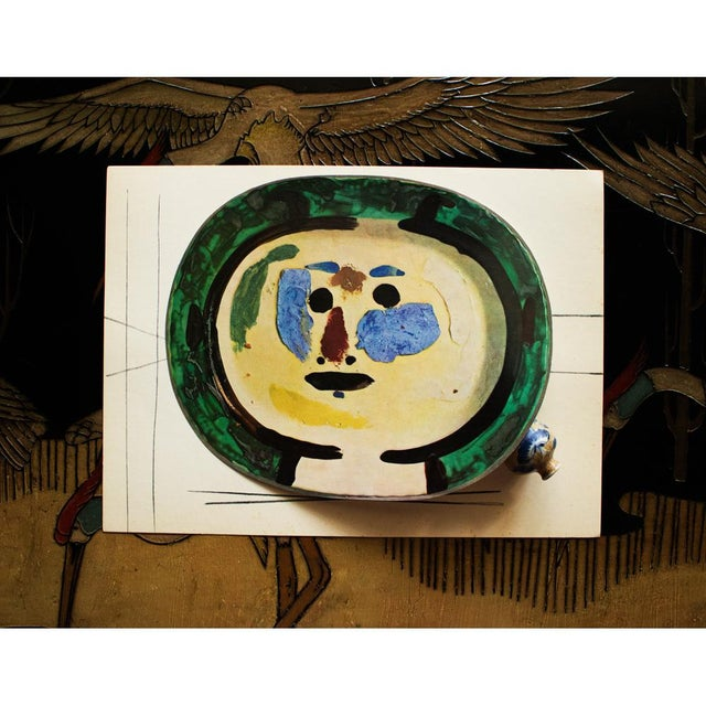 Abstract 1955 Pablo Picasso Living Face Ceramic Plate, Original Period Swiss Lithograph For Sale - Image 3 of 6