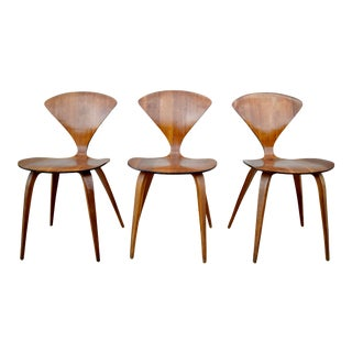 Mid Century Norman Cherner Plycraft Bentwood Chairs- 3 Available For Sale