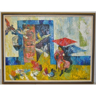 Vintage Oil Painting by Arnold C.1960