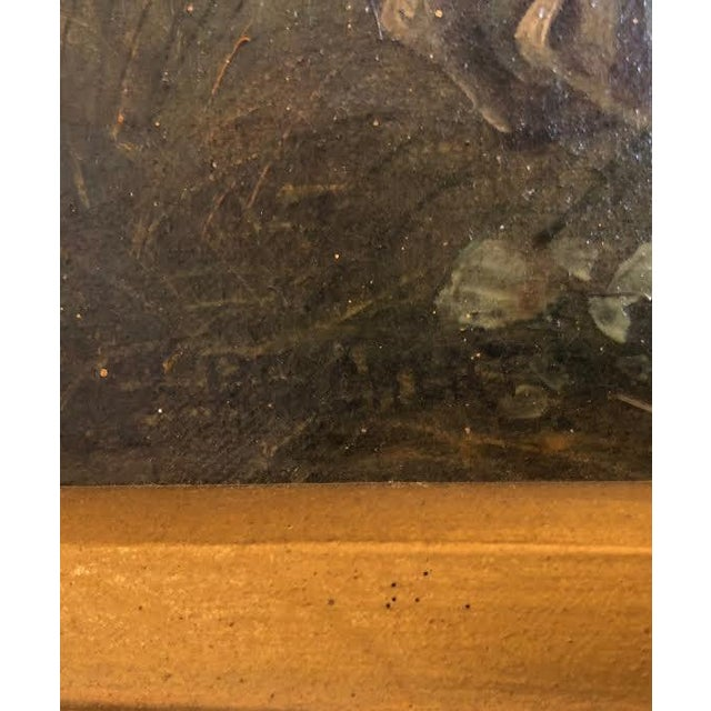 Late 19th Century Antique Karl (Carl) Reichert Victorian Oil Painting For Sale - Image 11 of 13