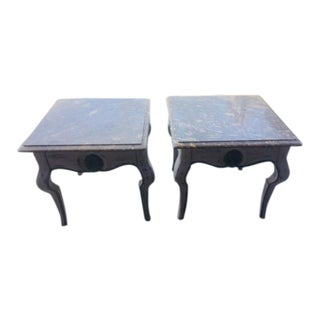 Vintage French Style Painted Low Tables - a Pair For Sale