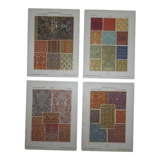 Authentic Antique Lithographs-Ornamental Designs - Set of 4 For Sale