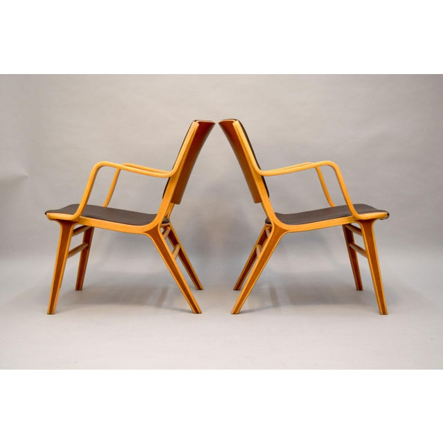 "Peter Hvidt & Orla Mølgaard-Nielsen Leather ""AX"" Chairs - A Pair For Sale - Image 5 of 11"