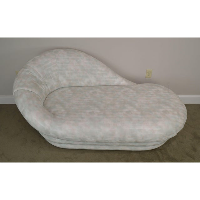 Textile Carsons Inc. Post Modern Upholstered Chaise Lounge For Sale - Image 7 of 13