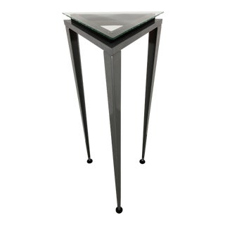 Post Modern Pedestal Display Table For Sale