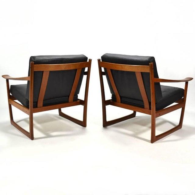 Peter Hvidt & Orla Mølgaard Nielsen Lounge Chairs by France & Son - Image 8 of 10