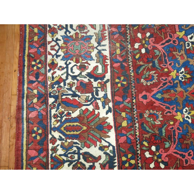 Antique Persian Bakhtiari Rug - 12'3'' X 18'2'' - Image 9 of 9