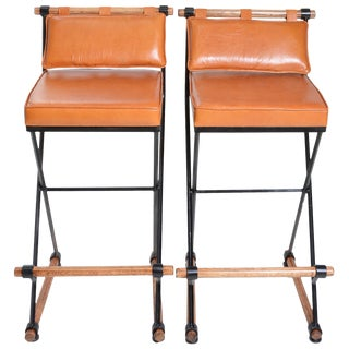 Cleo Baldon Style Bar Stools - A Pair For Sale