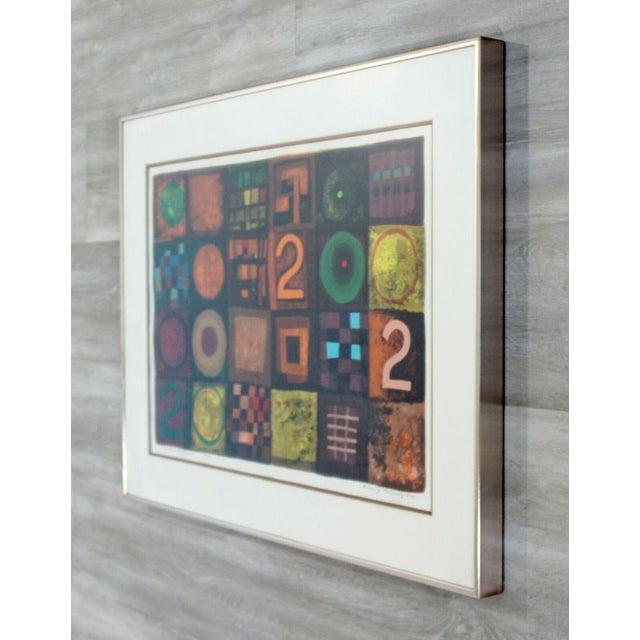 Contemporary Modern Framed Lithograph Signed Barbara Oldsheusky 181/300 For Sale - Image 4 of 7