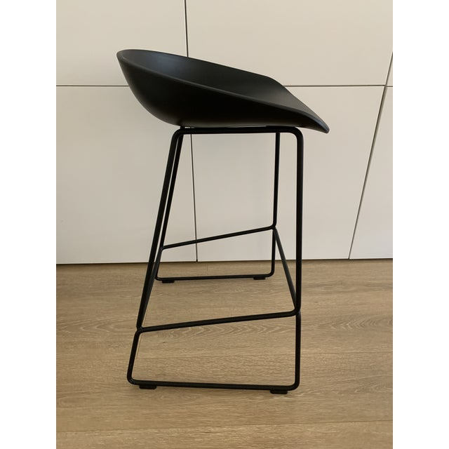 Hee Welling for Hay Black Danish Counter Stool For Sale - Image 4 of 6