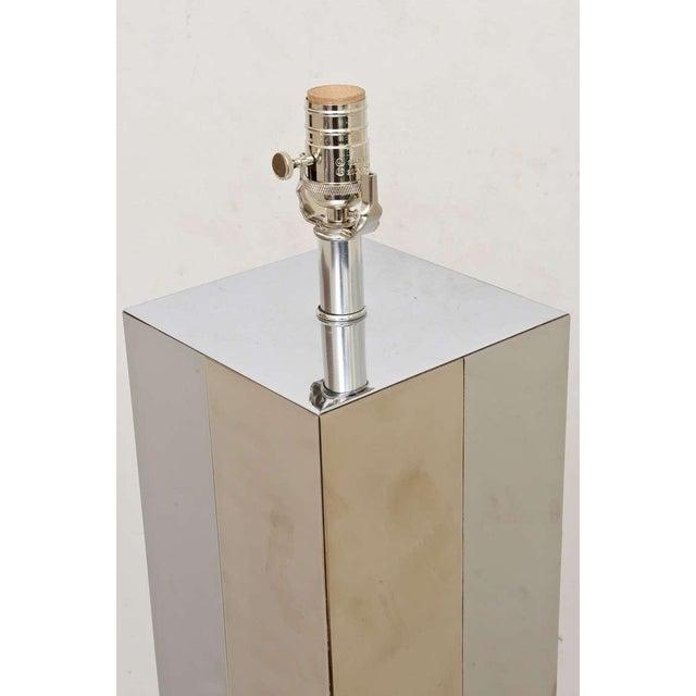 "Mid-Century Modern Paul Evans Dual Metal ""Cityscape"" Floor Lamp For Sale - Image 3 of 10"