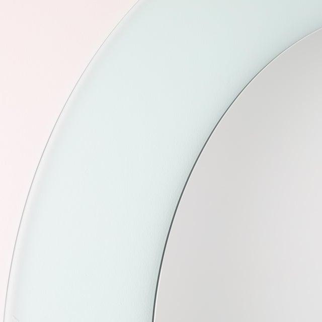 Acrylic Full Circle Modern Original Round Acrylic Frame Mirror For Sale - Image 7 of 11