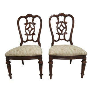 Modern Thomasville Fredericksburg Dining Room Side Chairs- A Pair For Sale