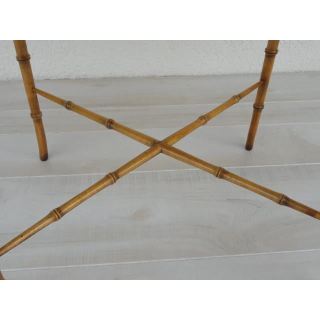 Gold 20th Century Chinoiserie Holland Salley Baker Furniture End Table For Sale - Image 8 of 13