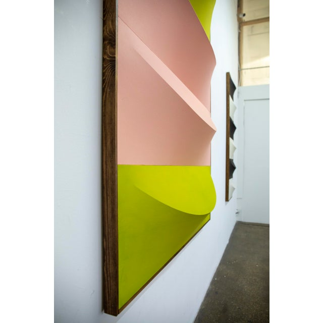 Abstract No.1-7 Green & Pink Artwork by Charlie Oscar Patterson For Sale - Image 3 of 4