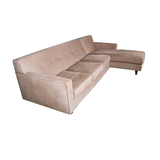 Mid 20th Century Rowe Furniture Sectional Sofa With Chaise For Sale - Image 5 of 12