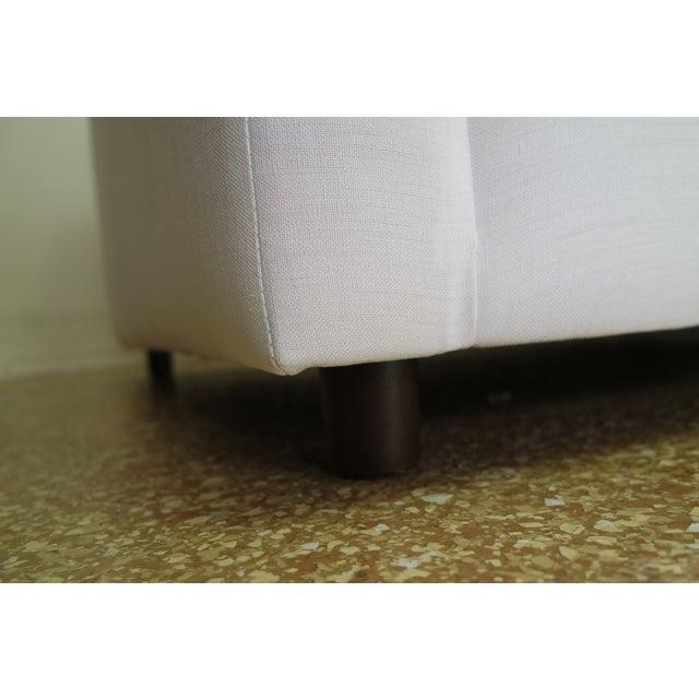 Custom Designer White Linen Slipcovered Sofa - Image 2 of 11