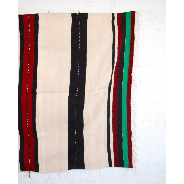 Moroccan Berber Stripe Throw For Sale - Image 5 of 5