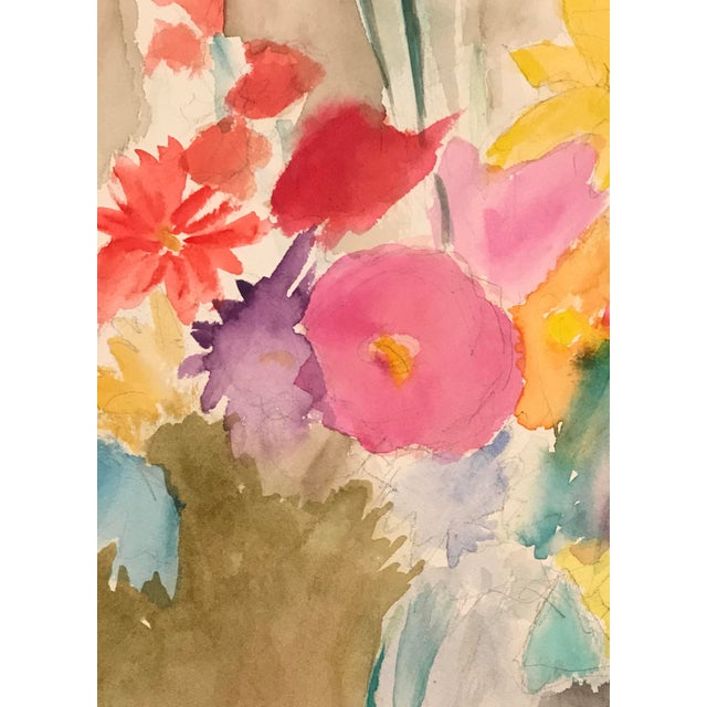 Contemporary 1980s Floral Still Life Painting For Sale - Image 3 of 4
