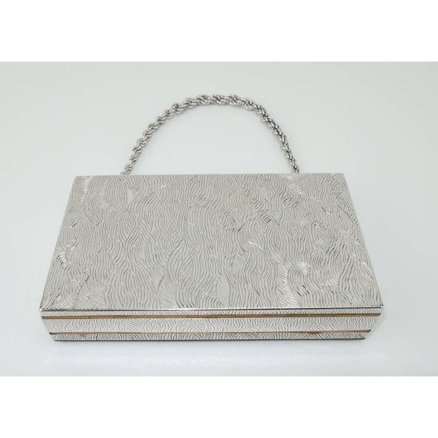 Evans Evans Mother of Pearl Compact Wristlet Handbag, 1950s For Sale - Image 4 of 11