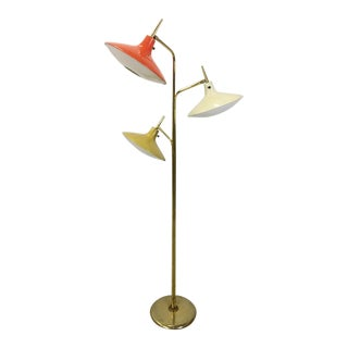 Atomic Age Floor Lamp in Style of Gio Ponti For Sale
