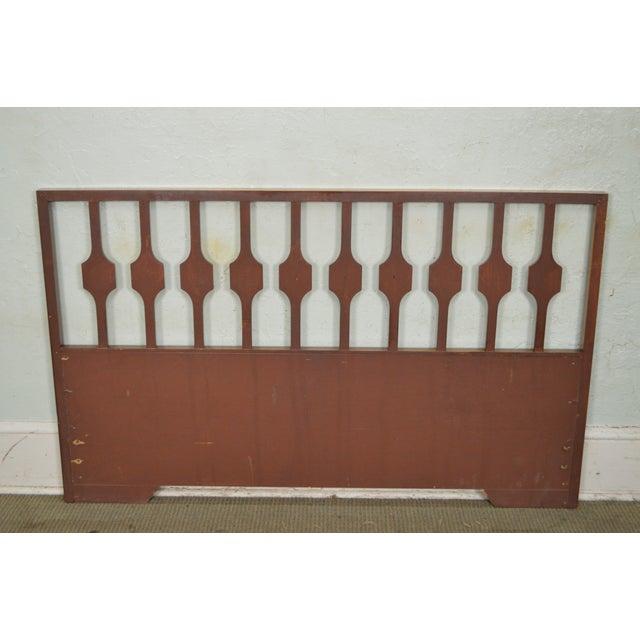 Brown Mid Century Danish Modern Style Walnut Queen Headboard For Sale - Image 8 of 11