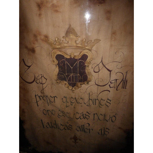 "Large 60""x47"" Shadow Box Wall Mantle Picture Framed on Canvas Pirate Latin Saying - Image 4 of 10"