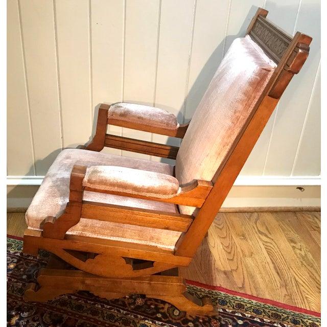Fine Early 20Th Century Antique Pink Velvet Rocking Chair Ibusinesslaw Wood Chair Design Ideas Ibusinesslaworg