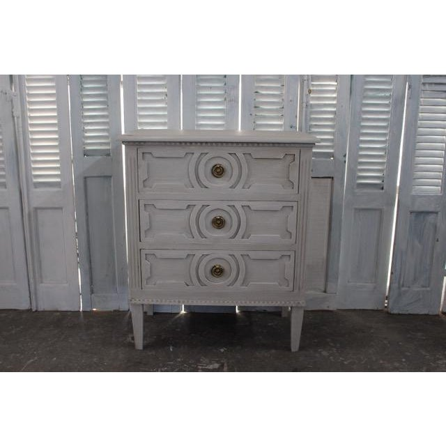 Mid-Century Modern 20th Century Swedish Gustavian Style Nightstands - a Pair For Sale - Image 3 of 12