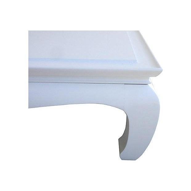 White Lacquered Ming Coffee Table - Image 3 of 5