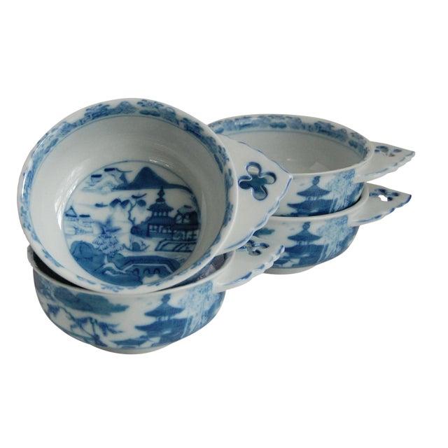 Mottahedeh Blue Canton Porringer Bowls - Set of 4 - Image 1 of 6